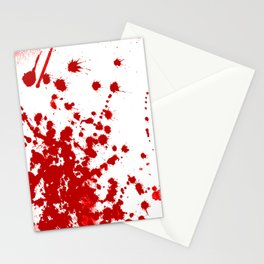 Red Splatter Stationery Cards
