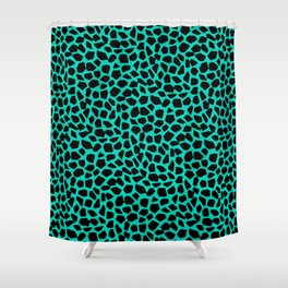 Berlin Boombox Animal Pattern Shower Curtain