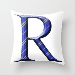 R for Ravenclaw Throw Pillow