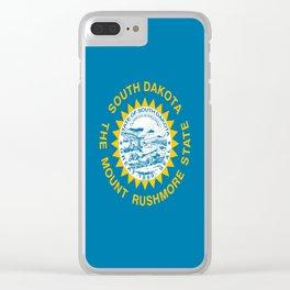 flag of south dakota,america,us,mount rushmore,dakotan,midwest,Sioux fall,rapid city,aberdeen,Pierre Clear iPhone Case