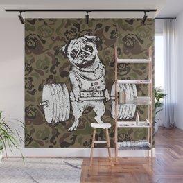 Pug Lift Camo Wall Mural