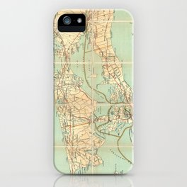 Vintage Road Map of Long Island (1905) iPhone Case