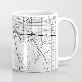 St Paul Map White Coffee Mug