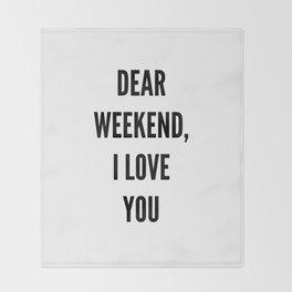 weekend Throw Blanket