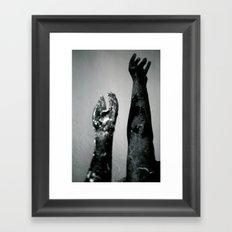 Reaching Framed Art Print