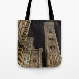 piazza del duomo cathedral square Firenze Tuscany Italy Tote Bag