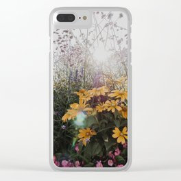 When the sun hits flowers Clear iPhone Case