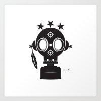 Post World Zuno : Gas Mask 02 Art Print