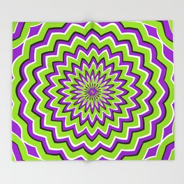 Optical Illusion moving pattern Throw Blanket