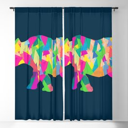 Abstract Rhino Blackout Curtain