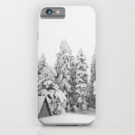 Snow Lift // Ski Chair Lift Colorado Mountains Black and White Snowboarding Vibes Photography Art Print iPhone Case