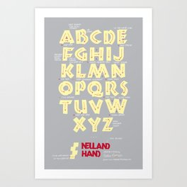 Neuland Hand Exemplar with Ductus Art Print