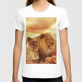 Lion couple | Couple de Lion T-shirt