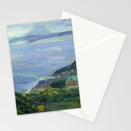 African American Masterpiece 'Coastal Landscape, France, 1912' by Henry Ossawa Tanner Stationery Cards