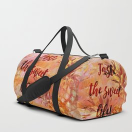 Pineapple Sweet Life Summer Quote Duffle Bag