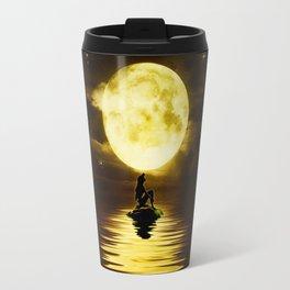 Beauty Mermaid Starry Night Travel Mug