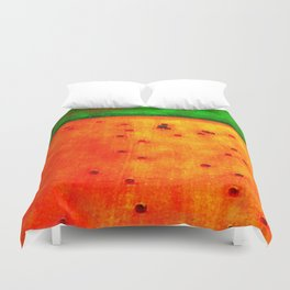 Orange Field Duvet Cover