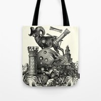 pagan Tote Bags featuring Pagan wiccan by DIVIDUS
