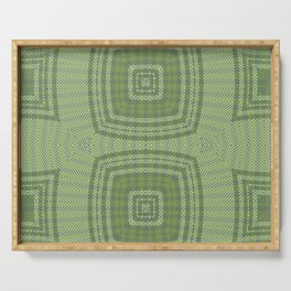 Spring Multi Directional Chevrons Serving Tray