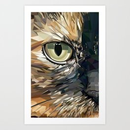 Stevie Cat Art Print
