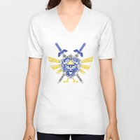 the legend of zelda V-neck T-shirts featuring Heroes Legend - Zelda by Art & Be