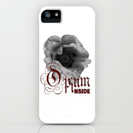 Black And White Poppy Transparent Background iPhone Case