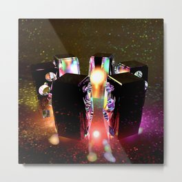 Wired for Sound Metal Print