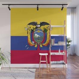 Ecuador flag emblem Wall Mural