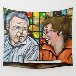 Archie & Edith Bunker  Wall Tapestry