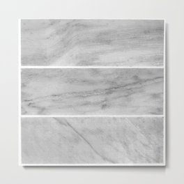 Granite Gray Slabs Metal Print
