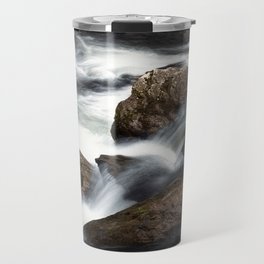 Flowing Water over Rocks in a Mountain Stream in the Smoky Mountains Travel Mug