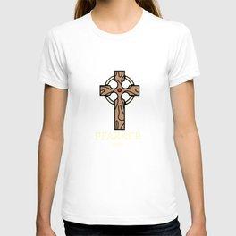 Tolles Pfarrer 100%  Prozent Motiv mit Kreuz - modernes TOP T-shirt