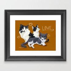 Meow Love Framed Art Print
