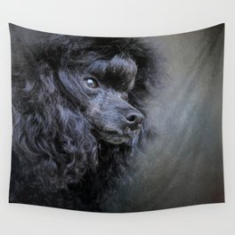 Snack Spotter - Black Toy Poodle Wall Tapestry