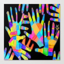 Hands of colors | Hands of light Canvas Print