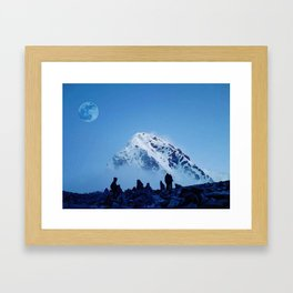 Everest Base Camp, Khumjung, Nepal Framed Art Print