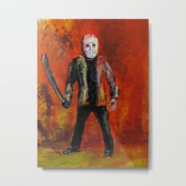 Jason Voorhees,  original painting by jack larson Metal Print