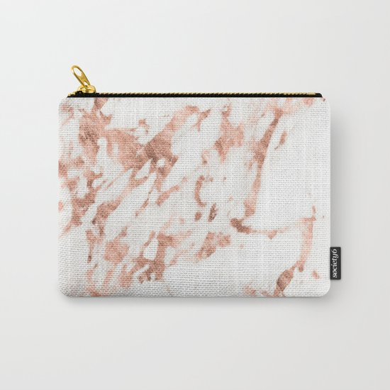 Rose Gold Marble - Perfect Pink Rose Gold Marble Carry-All Pouch