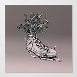 Tired Sneaker Canvas Print