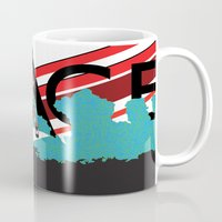 spaceman Mugs featuring Spaceman by Robert Cooper