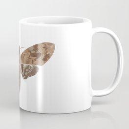 Death's Head Moth Hawkmoth Brown Insect Digital Watercolor Coffee Mug