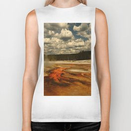 Hot And Colorful Thermal Area Biker Tank
