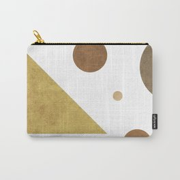 Subtle Opulence - Minimal Geometric Abstract - White 3 Carry-All Pouch