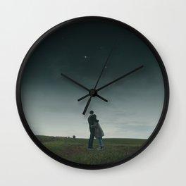 Found Stars Wall Clock