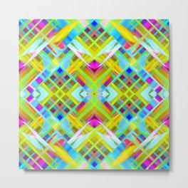 Colorful digital art splashing G471 Metal Print