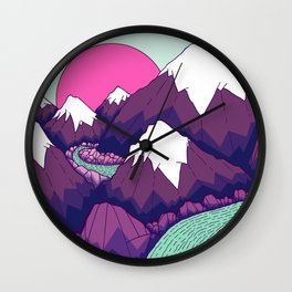 The lime green river Wall Clock