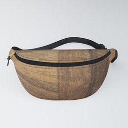 Mid century modern Rustic nordic scandinavian cabin caramel brown wood plank Fanny Pack
