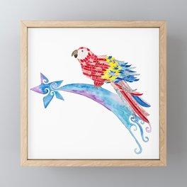 Scarlet macaw making a wish Framed Mini Art Print