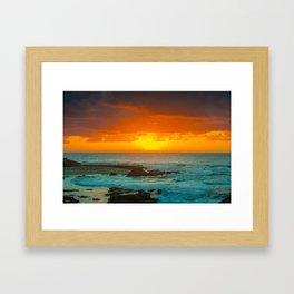 Sunset over childrens pool Framed Art Print