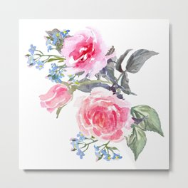 Bouquet of rose Painted Metal Print